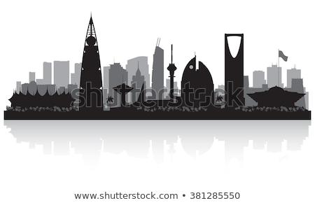 Saoedi-Arabië zwart wit silhouet eenvoudige toerisme Stockfoto © ShustrikS
