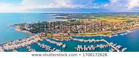 Kustlijn architectuur luchtfoto archipel regio Kroatië Stockfoto © xbrchx