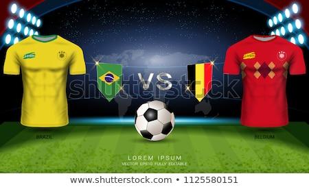 Brasilien vs Belgien Fußball Spiel Illustration Stock foto © olira
