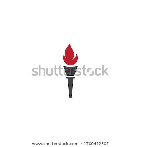 факел вектора икона иллюстрация дизайна дизайн шаблона Сток-фото © Ggs
