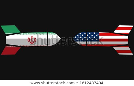 USA versus IRAN, concept illustration with country flags Stock photo © evgeny89