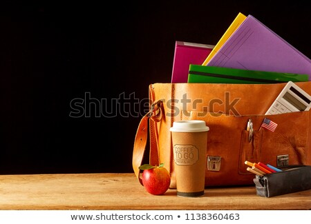 School Satchel with Books and Fruit Stock photo © frannyanne