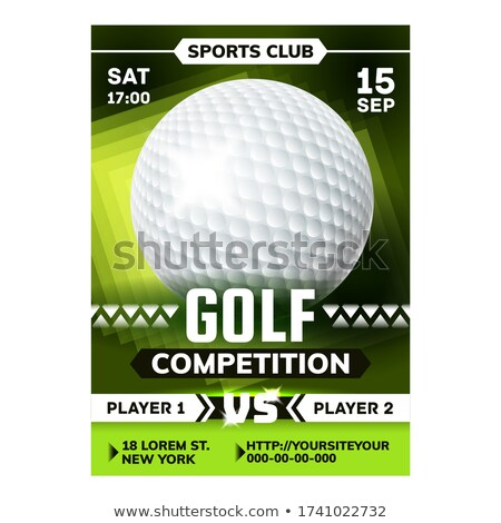 Golf Sportive Game On Meadow Flyer Poster Vector Stock photo © pikepicture