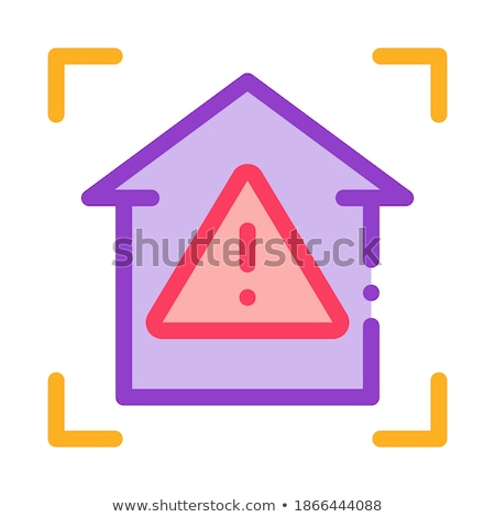 unsafe home detection icon vector outline illustration Stock photo © pikepicture
