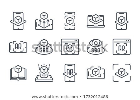 Simulation Equipment Collection Icons Set Vector Stock photo © pikepicture