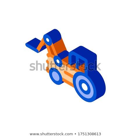Caso trator veículo isométrica ícone vetor Foto stock © pikepicture
