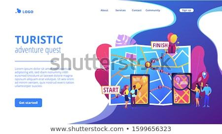 Interactive city quest concept landing page Stock photo © RAStudio
