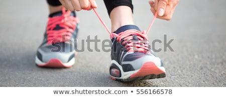 Corredor mujer listo ejecutar zapatillas Foto stock © Maridav