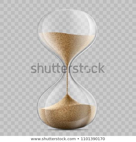 Zandloper zandloper hand tijd business hout Stockfoto © Hasenonkel
