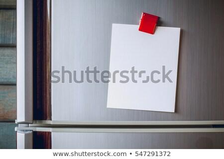 付箋 冷蔵庫 カラフル ステンレス鋼 ストックフォト © akodisinghe