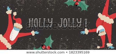 Noel baba tebrik tatil Stok fotoğraf © Lynx_aqua