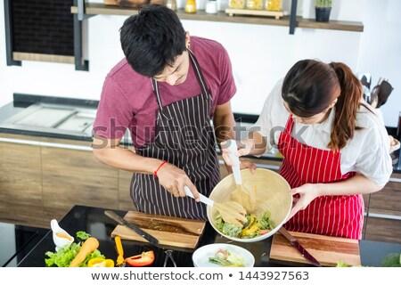 продовольствие любви человека счастливым домой Сток-фото © photography33