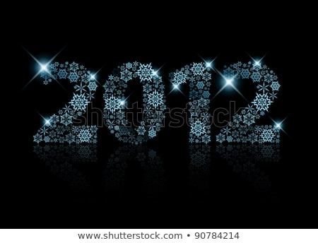 2012 made from blue snowflakes Stock photo © orson