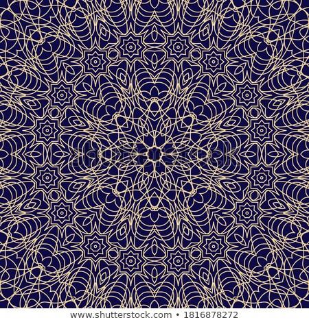 Minta illusztráció kék virágmintás izzik terv Stock fotó © pkdinkar