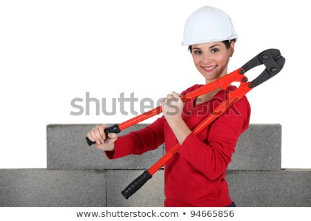 female builder holding bolt cutters Stock photo © photography33