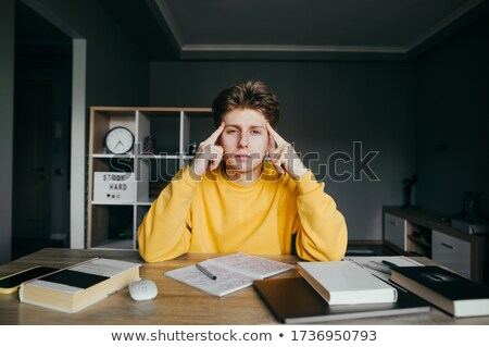 Stock photo: University Student Pointing his finger