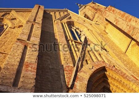 Kilise Ottawa Illinois tuğla Stok fotoğraf © benkrut