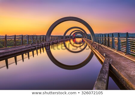 колесо отражение Шотландии трава области зеленый Сток-фото © vichie81
