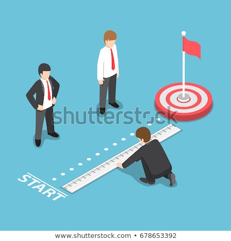 A businessman pointing with a ruler. stock photo © photography33