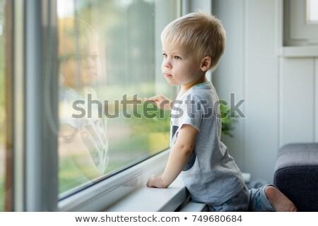meisje · spiegel · tabel · portret · mooie · jonge - stockfoto © photography33