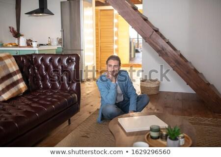 férfi · személyes · szervező · mobiltelefon · mobil · kommunikáció - stock fotó © photography33