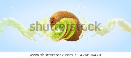 Fraîches délicieux kiwi yaourt secouer crème Photo stock © juniart