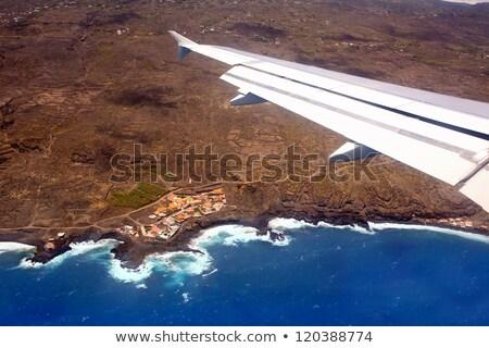Aerial view from airplane of La Palma Stock photo © lunamarina