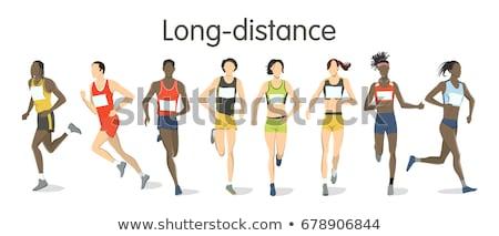 Runner · мужчин · запустить · гонка · стадион · играх - Сток-фото © leonido