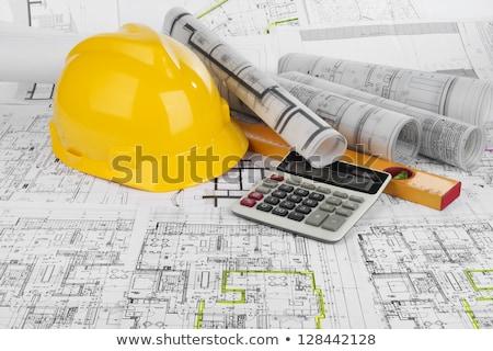 Desenho calculadora desenhos tubo projeto Foto stock © a2bb5s