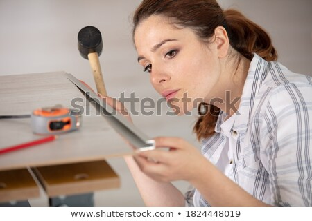 Tiler using mallet Stock photo © photography33
