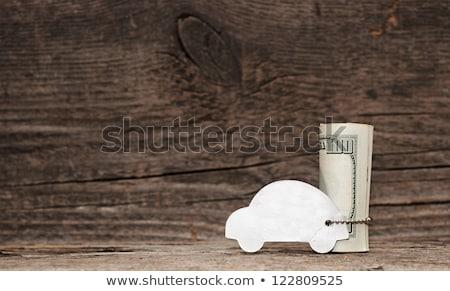 modèle · voiture · argent · chaîne · vieux · bois · espace - photo stock © inxti