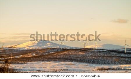 ветровой · турбины · Арктика · утес · морем - Сток-фото © Harlekino