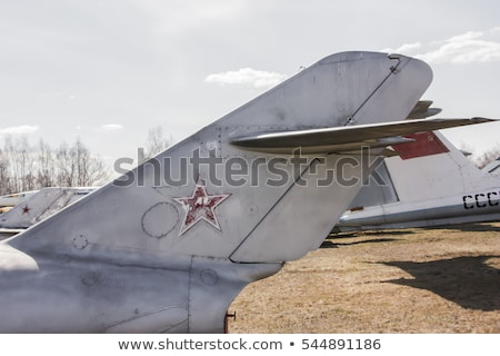 the tail part of the old plane stock photo © zhukow