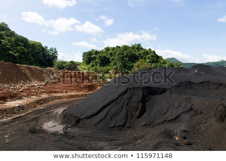 coal stock pile used in the industry stock photo © stoonn