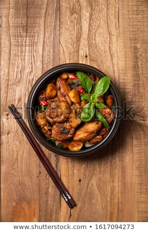 asian braised chicken drumstick Stock photo © mtkang