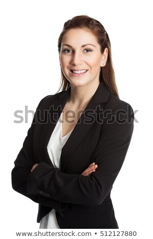 well dressed woman with blue eyes against white background stock photo © wavebreak_media