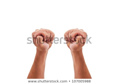Two hands are crossing fingers to bring good luck Stock photo © Pasiphae
