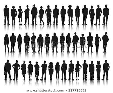 pomysł · dojrzały · człowiek · biznesu · stałego · czarny · znaki - zdjęcia stock © HASLOO