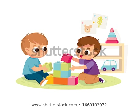 baby with toy blocks stock photo © Paha_L