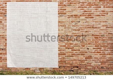 oude · vintage · poster · muur · muur · teken - stockfoto © dacasdo