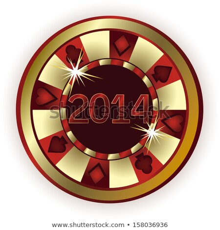 New 2014 Year Poker chip, vector illustration Stock photo © carodi