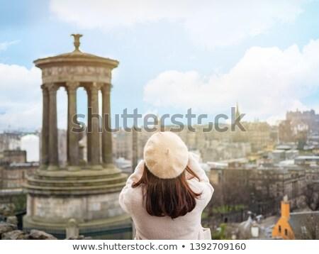 Edinburgh · panorama · budynku · zamek · Hill · Szkocji - zdjęcia stock © claudiodivizia