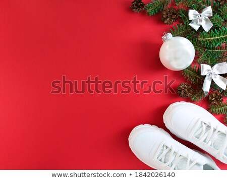 Silber Weihnachten Spielerei Kopie Raum Stock foto © rogerashford