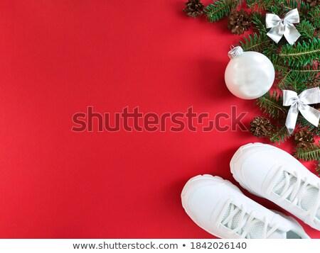 Argent Noël babiole espace de copie noël Photo stock © rogerashford