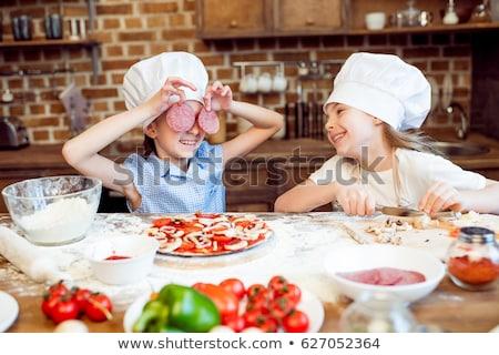 Feliz criança pizza bonitinho fresco Foto stock © gewoldi