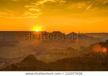 Gün batımı Grand Canyon çöl görmek nokta güney Stok fotoğraf © meinzahn