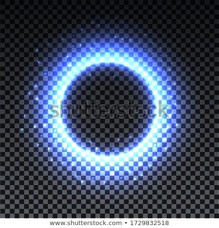 Magie halo cirkel grid patroon ontwerp Stockfoto © HypnoCreative