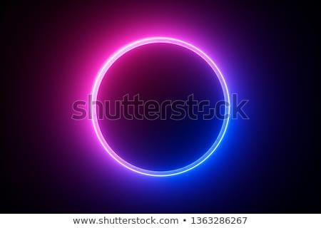 Neon cirkel grijs vector Stockfoto © vlastas
