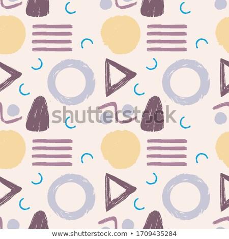 Seamless doodle background set Stock photo © Elmiko