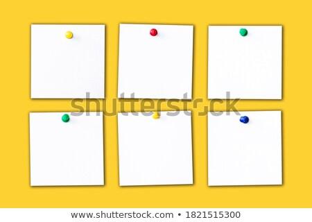 reunião · de · negócios · amarelo · adesivo · boletim · cortiça · mensagem - foto stock © tashatuvango